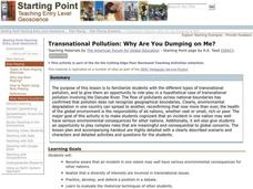 Transnational Pollution: Why Are You Dumping on Me? Lesson Plan