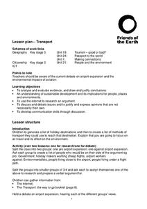 Transport Lesson Plan