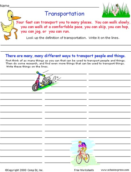 transportation worksheet for 1st 3rd grade lesson planet. Black Bedroom Furniture Sets. Home Design Ideas