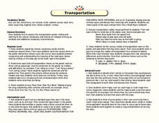 Transportation Lesson Plan