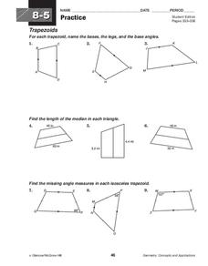 isosceles trapezoid lesson plans worksheets reviewed by teachers. Black Bedroom Furniture Sets. Home Design Ideas