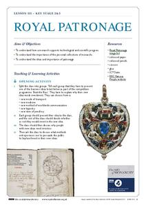 Royal Patronage Lesson Plan