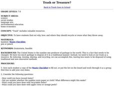 Trash or Treasure? Lesson Plan