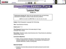 Travel Brochure/ Itinerary Lesson Plan