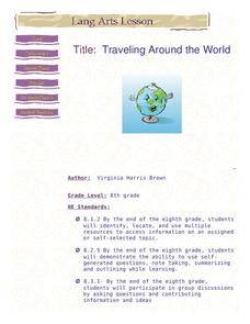 Traveling Around the World Lesson Plan