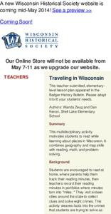 Traveling in Wisconsin Lesson Plan