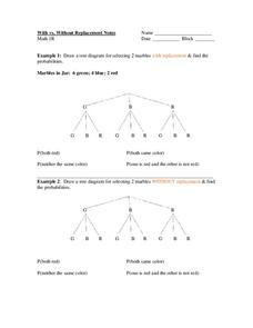 Tree Diagrams Worksheet