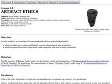 Artifact Ethics Lesson Plan