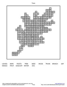 Trees Word Search Worksheet