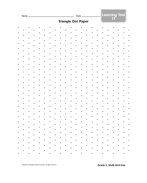 photo relating to Dot Paper Printable titled Triangle Dot Paper Printables Template for 6th - 7th Quality