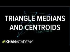 Triangle Medians and Centroids Video