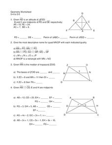 Triangle Proofs Worksheet