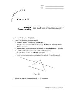 Triangle Proportionality Lesson Plan