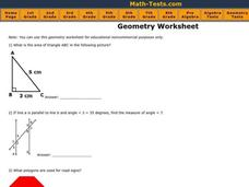 Triangles Worksheet