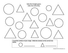 Triangles and Circles Worksheet