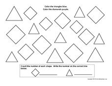 Triangles and Diamonds Worksheet
