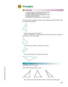 Triangles Handouts & Reference