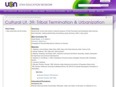 Tribal Termination & Urbanization Lesson Plan