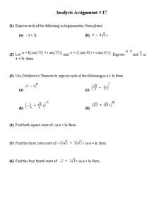 Trigonometric Function Worksheet