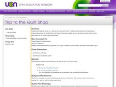 Trip to the Quilt Shop Lesson Plan