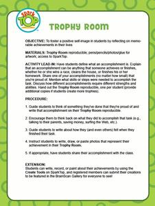 Trophy Room Lesson Plan