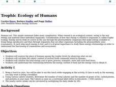 Trophic Ecology of Humans Lesson Plan