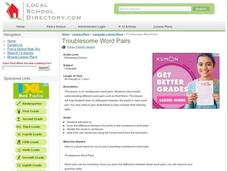 Troublesome Word Pairs Lesson Plan