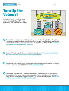Turn Up the Volume! Worksheet