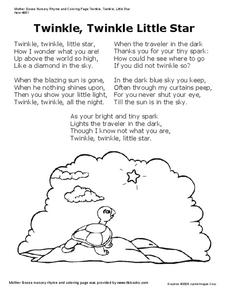 Twinkle, Twinkle Little Star Worksheet