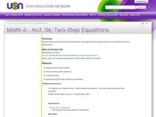 Two Step Equations Lesson Plan