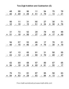 Two-Digit Addition and Subtraction Worksheet