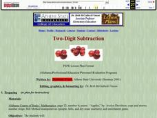 Two-Digit Subtraction Lesson Plan