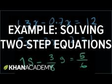 Two-Step Equations Video