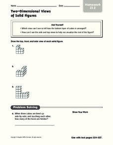 Two-Dimensional Views of Solid Figures Worksheet