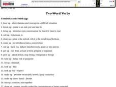 Two-Word Verbs Worksheet
