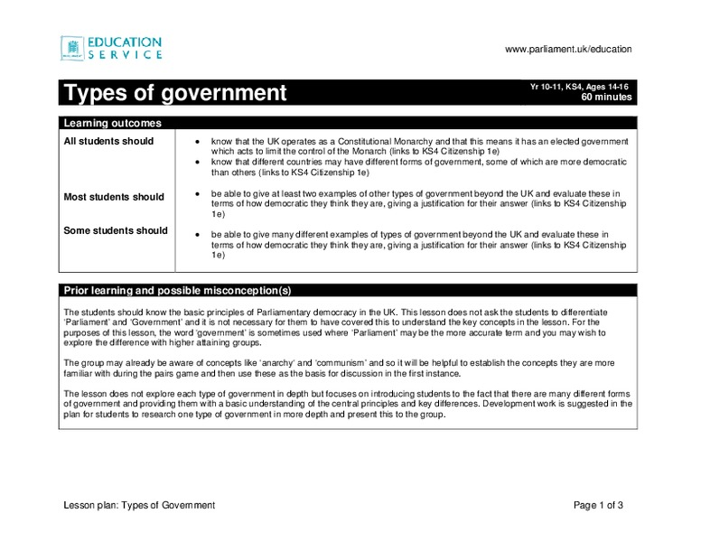 Limiting Government Worksheet Answers