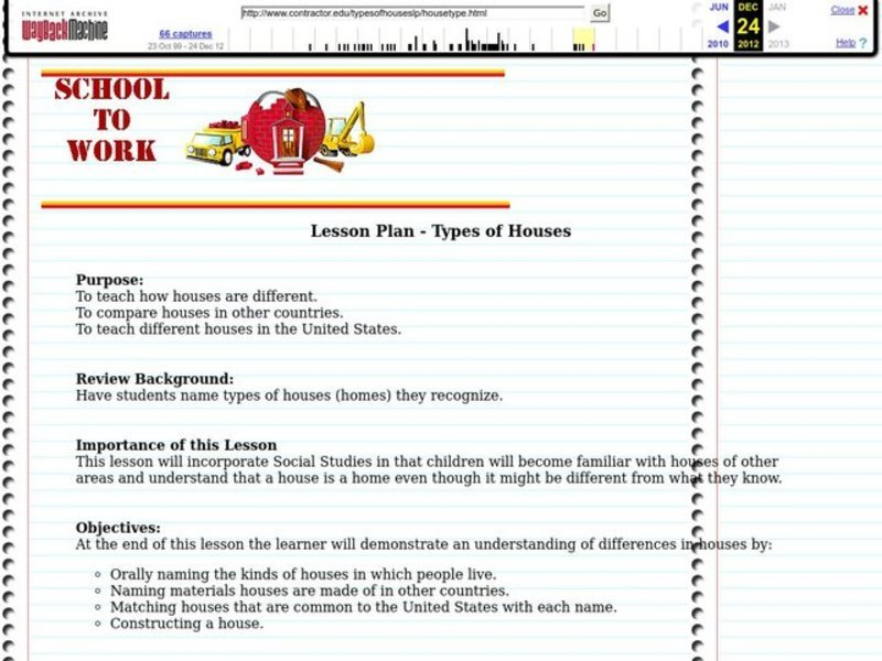 Types Of Houses Lesson Plan For 3rd 7th Grade Lesson Planet