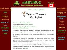Types of Triangles Lesson Plan