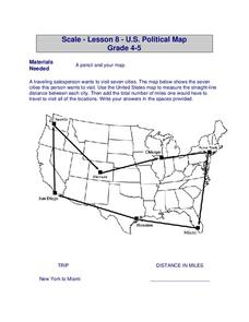 U.S. Political Map Worksheet