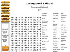 Underground Railroad Worksheet