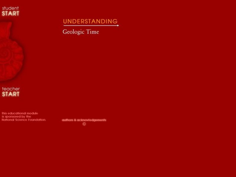 Understanding Geologic Time Lesson Plan