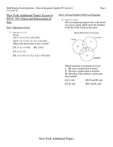 union and intersection of sets worksheet for 9th 11th grade lesson planet. Black Bedroom Furniture Sets. Home Design Ideas