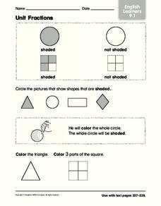 Unit Fractions Worksheet