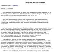 Units of Measurement Lesson Plan