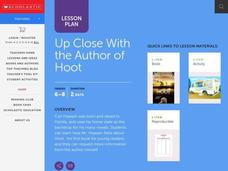 Up Close With The Author Lesson Plan