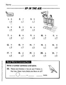 Up In the Air Worksheet