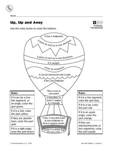 Up, Up and Away Worksheet