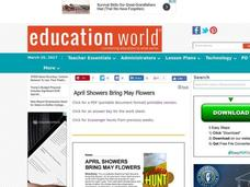 April Showers Bring May Flowers Lesson Plan