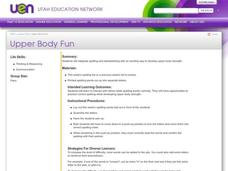Upper Body Fun Lesson Plan