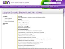 Upper Grade Basketball Activities Lesson Plan